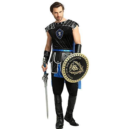 YXRL Cosplay Antike Römische Samurai Halloween Kostüm Erwachsene Uniform Schwertkämpfer Krieger Kleidung Men-OneSize