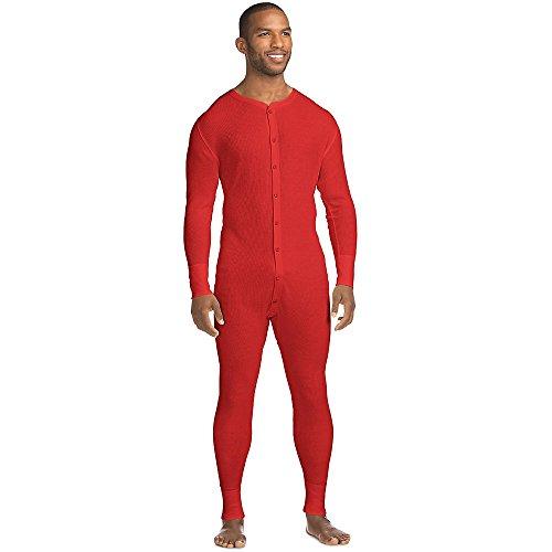 Von X-Temp M?nner Bio-Baumwolle Thermal Union Anzug 3X-4X_Red_3XL (Union Thermal Anzug)