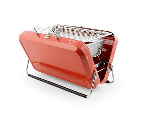 Kikkerland BQ01tragbar BBQ Koffer, schwarz rot