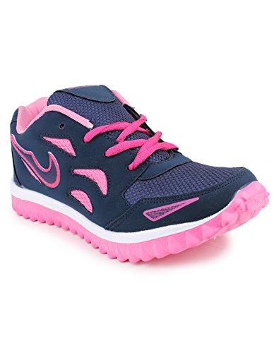 SHOES T20- Women's BLUE PINK mesh Running Sports Shoes-8