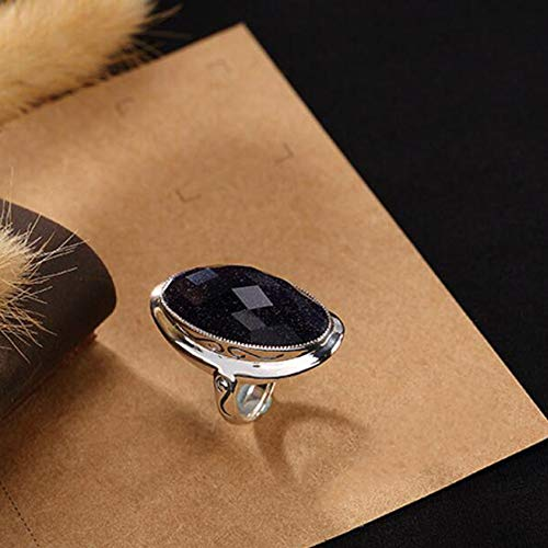 kaige RingS925 Sterling Silber Jade Mark Stein Thai Silber Retro-Einfache Atmosphäre Weibliche Ring Gib es Den Lieben Leuten