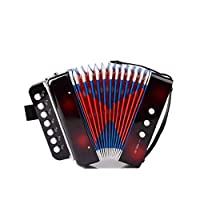 MaylFre 1 Set Kids Mini Accordion Multi Function Parenting Childrens Early Learning Musical Toys Accordion Instrument Kids Educational Musical Instrument Black