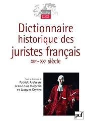 Dictionnaire historique des juristes français (XIIe-XXe siècle)