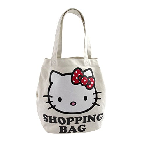 Hello kitty by camomilla - sac shopping - kitty city doll hobby - blanc