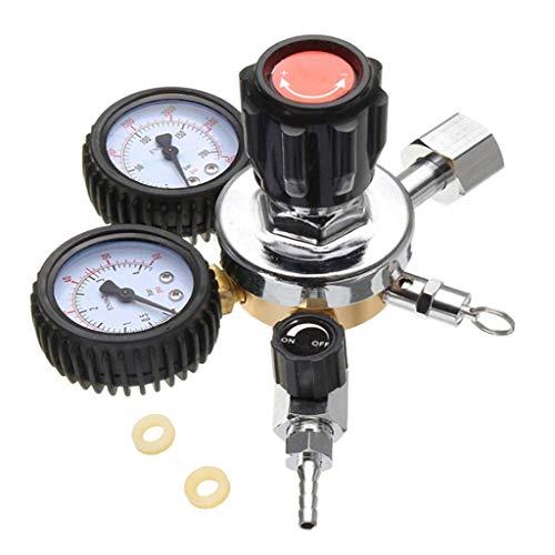 (Dual System 2-stufiger CO2-Druckregler für Zugluft-Bierregler und Kombucha Set-Ups. Verbindet 2 Systeme an 1 Tank)