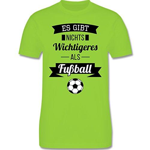 Fußball - Es gibt nichts Wichtigeres als Fußball - Herren Premium T-Shirt Hellgrün