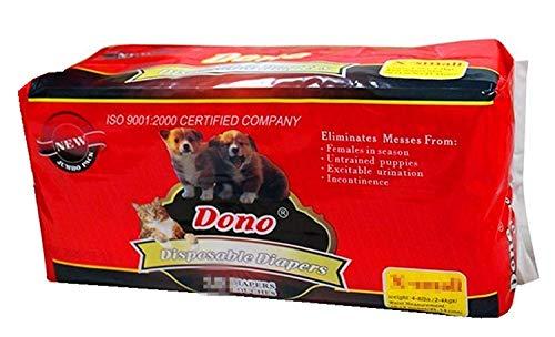 Solagua Pañales Desechables para Cachorros Hembra para Mascotas, Super absorción x 5 Tallas (12u L, Blanco con Puntos)