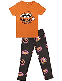 4542fe277 Licensed Boys The Muppet Show Animal Pyjamas PJS Sleepwear Age 4-11 Years  Fleece Bottoms