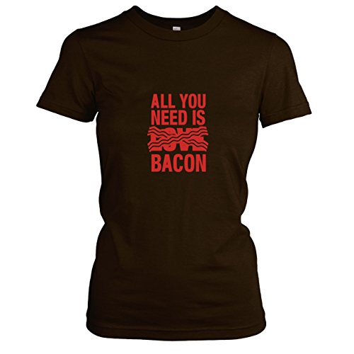 TEXLAB - All you need is Bacon - Damen T-Shirt, Größe M, (Speck Kostüme)