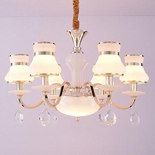 MULANG European Crystal Kronleuchter, modern minimalistisch bedroom Hängeleuchte, Restaurant Hotel LED dekorative Kronleuchter , (Halloween Minimalistische Kostüme)