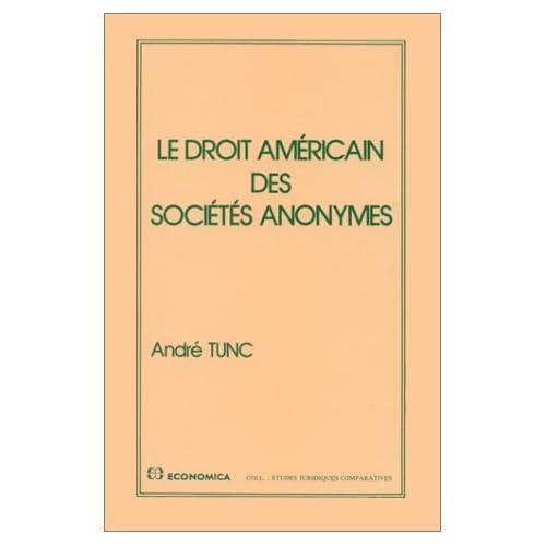 Le droit américain des sociétés anonymes