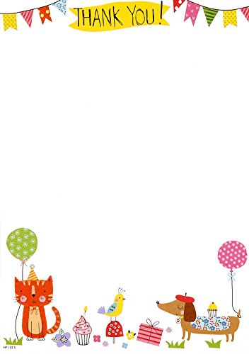 pack-of-20-childrens-thank-you-notes-envelopes-owl-cat-dog-bunting-balloon