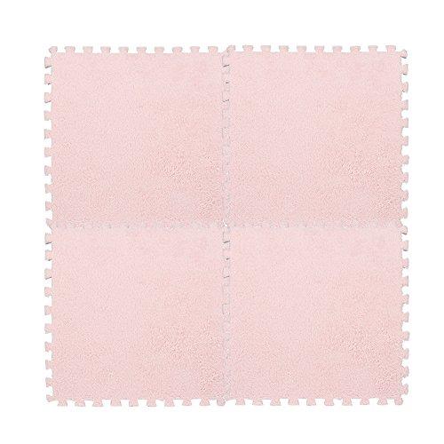 TianranRT - Alfombra de espuma para niños, 30 x 30 cm, diseño de puzzle de EVA, terciopelo, 7 colores, Rosa