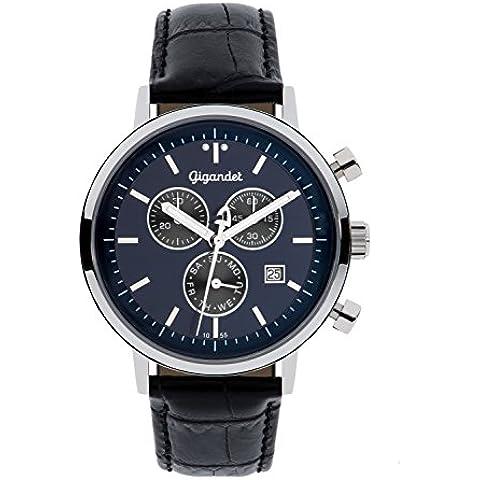 Gigandet Classico Orologio Uomo Cronografo Analogico Quartz Blu Nero G6-010