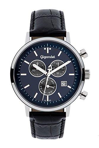 Gigandet Classico Men's Analogue Chronograph Quartz Watch Blue Black G6-010