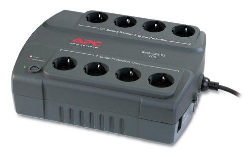 APC Back-UPS ES 400VA 230V Spain - Fuente de alimentación continua (UPS) (400 VA, 240W, 310J, 1,83m, Sealed Lead Acid (VRLA), 16h)