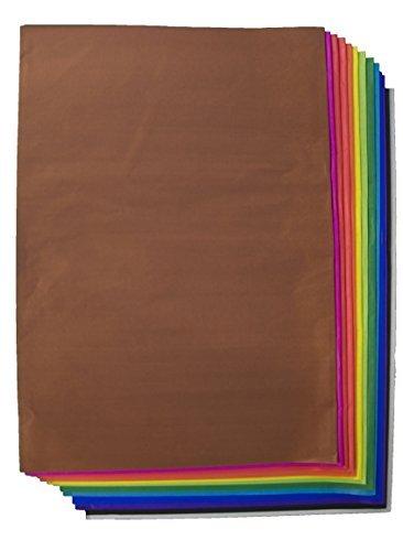 Folia Seidenpapier Sortiment 13 Farben, 26 große Bögen 20g/m², 70cm x 50cm