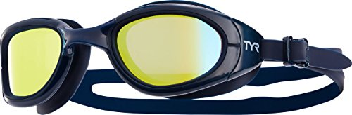 TYR Erwachsene Special OPS 2.0 Polarized Schwimmbrillen, gelb/Navy, One Size - Ops Special