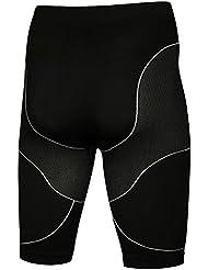 De compresión para la compresión de la ropa transpirable prendas para hombre pantalones Kurz__ Outdoor__ Radsport__Running, color  - negro, tamaño XXL