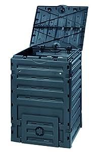 Graf 628001 Eco-Master - Bidone per compostaggio, 450 l, colore: Nero