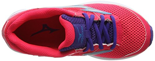 Mizuno Wave Rider 20 Jr, Chaussures de Running Entrainement Fille Rose (Diva Pink/silver/liberty)