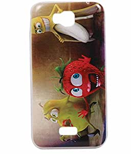 Exclusive Soft Silicon Back Case Cover For Huawei Honor Bee - Fruity Fun