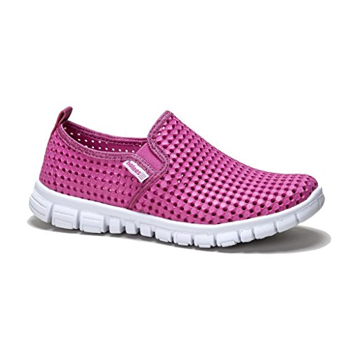 Holees Senhoras Originais De Espuma De Memória Sapatos Fácil Deslizador, Várias Cores E Tamanhos De Rosa