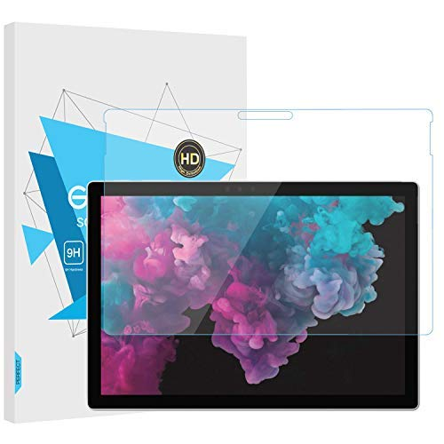 TiMOVO Microsoft Surface Pro 6 Folie Klar Glasfolie Screen Protector HD 9H Panzerglas Displayschutzfolie Schutzfolie für Surface Pro 6 / Pro 4 / Pro (5th Gen) Tablet - Transparent Gen Screen Protector