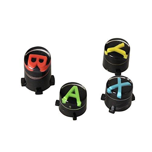 Timorn ricambio ABXY neri Bottoni set personalizzato Mod per XBOX un controller (1 set) - Abxy Pulsanti