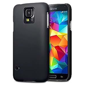 Terrapin Gummiertes Hardskin Hülle Tasche für Samsung Galaxy S5 Schwarz
