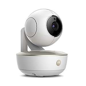 Motorola Baby MBP 88 Connect - Babyphone vidéo Wi-Fi caméra portable avec éco-mode, alertes de mouvements, du niveau sonore et de la température et Moto StarGrip, couleur blanc