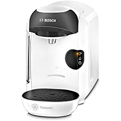 Bosch CAFETERA MULTIBEBIDA TAS1254 TASSIMO, 450 W, 0.7 litros, 1.5, Plástico, Blanco y negro
