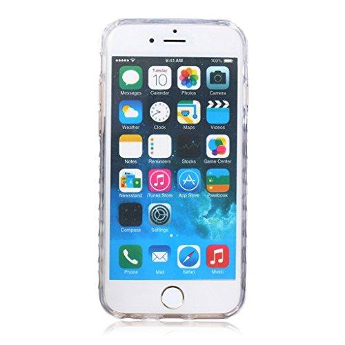 """Trumpshop Smartphone Case Coque Housse Etui de Protection pour Apple iPhone 6/6s 4.7"""" + Don't Touch My Phone Ourson + Flexible Ultra Mince Silicone TPU Gel avec Absorption de Choc + 3 Cadeaux Cute Giraffe"""
