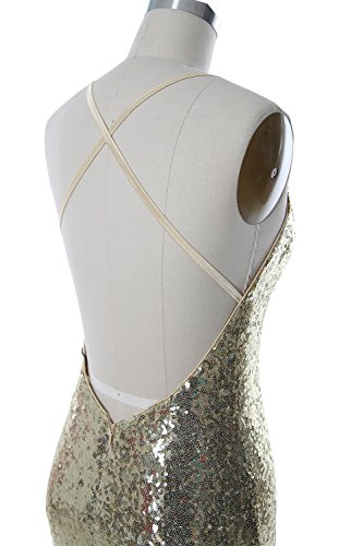 MACloth Women Mermaid Long Prom Dress Open Back Wedding Formal Evening Gown Violett