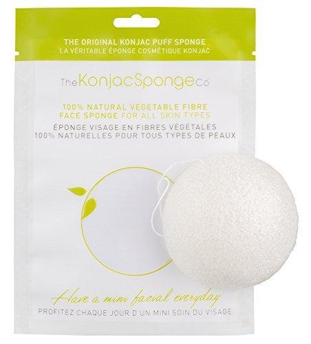 THE KONJAC SPONGE Eponge Konjac pour Visage Blanc Pur