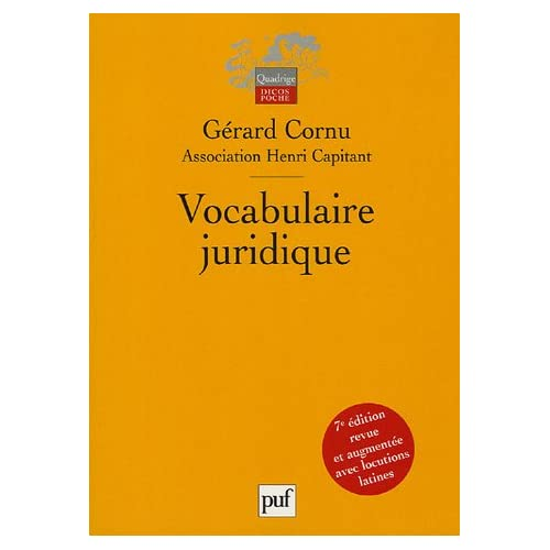 Vocabulaire juridique : Association Henri Capitant