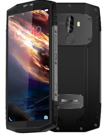 Blackview BV9000 - 5.7 pulgadas (relación 18: 9) IP68 Impermeable a prueba de golpes Smartphone Android 7.1, Octa core 2.6GHz 4GB + 64GB, Triple cámara, batería 4180mAh - Gris