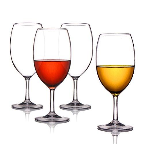 ThreeCat Unzerbrechliche Weingläser 100% Tritan Kunststoff Bruchsicher Weinbecher Wie Echtes Gläser BPA-Frei,Spülmaschinenfest 18 oz (525ml)