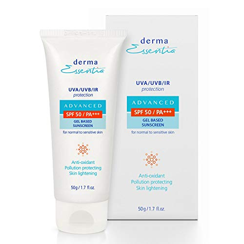 Derma Essentia Sunscreen SPF 50 gel | Anti Pollution | Sunscreen gel spf 50 (50g)