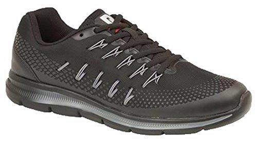 DEK Chaussures de running pour homme noir/gris