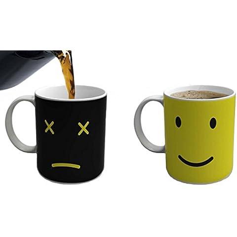 eBoTrade Magical Monday Mug Color Changing Mug Black by eBoTrade (Frown Mug)
