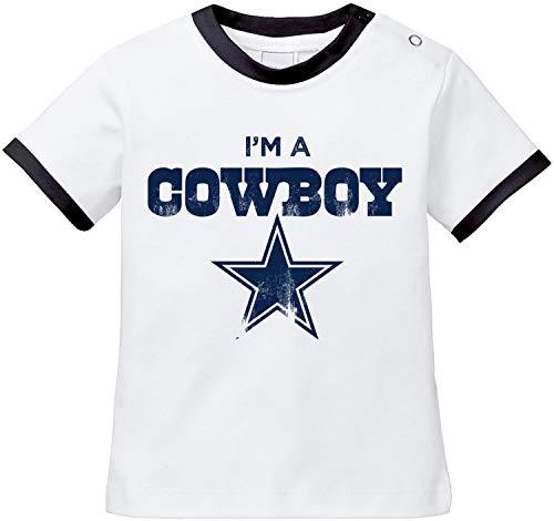 EZYshirt® I`m a Cowboy | American Football Baby T-Shirt Bio Baumwolle -