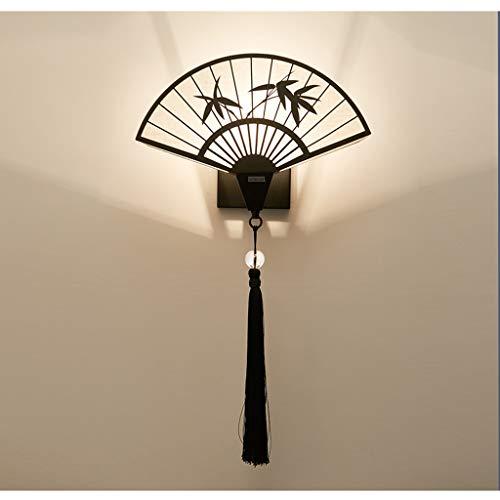 QYLOZ Hintergrund wanddekoration Wandleuchte Tee Zimmer Restaurant Retro Lampe Chinesischen Stil Lampe 45 * 28 cm
