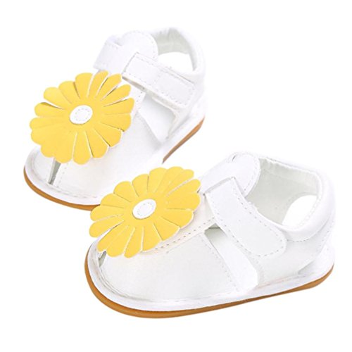OverDose,BéBé Enfants Filles Fleurs Conception Chaussures Bambin Doux Chaussures éTé Des Sandales Blanc