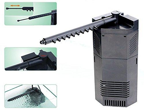 Sun Sun Pompa filtro JP-093 - Sistema angolare a immersione di filtraggio dell'acqua, regolabile, per (Esterno Biologico Filtro)