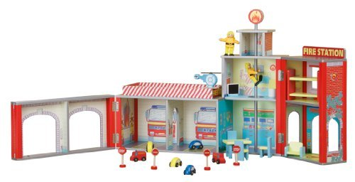 plum-ingham-fire-station-wooden-play-set-with-accessories-by-plum