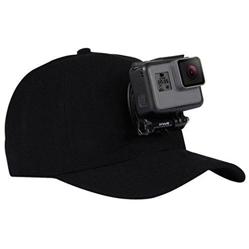 HCFKJ Baseball Cap für GoPro Action Kameras Halter Hut mit J-Haken Buckle Mount Schraube Beinhaltet Nicht Die Kamera (A)