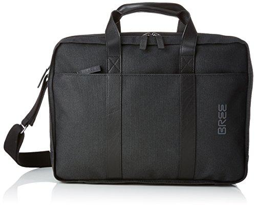 BREE Unisex-Erwachsene Punch Casual 67, Anthra/black, Briefcase Schultertasche, Grau, 13x30x40 cm -