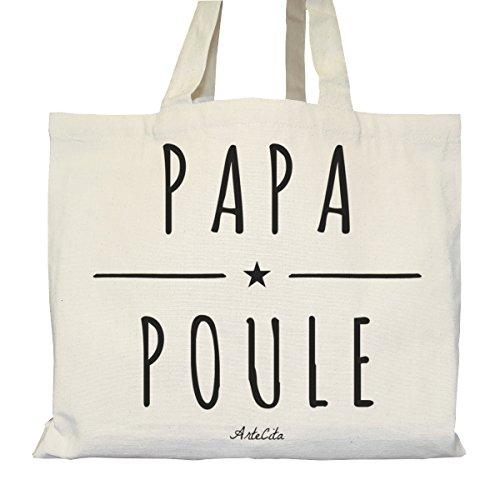 Tote bag Urbain - Soufflet et Poches intérieures - Toile épaisse de coton Bio - Papa Poule