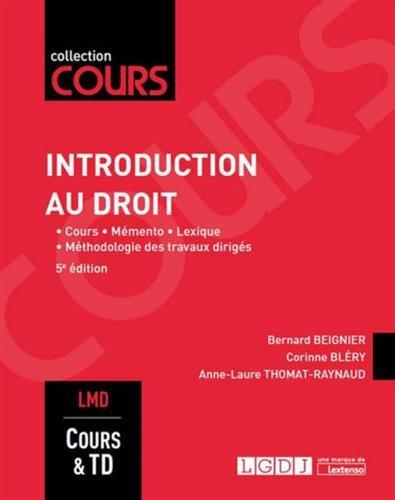 Introduction au droit, 5me Ed.